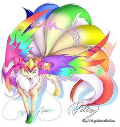 Rainbow winged kitsune!!!