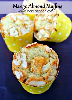 If mangoes are on sale, don't fail to buy some and make these moist and scrumptious MANGO ALMOND MUFFINS! I have made these a few times already for family and friends and they all love these! | manilaspoon.com