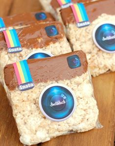Instagram Theme Treats, Social Media Sweets, Rice Krispie Party Favors, Social Media Party Favors, Teen Birthday Party Ideas