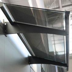 Solar glass awnings