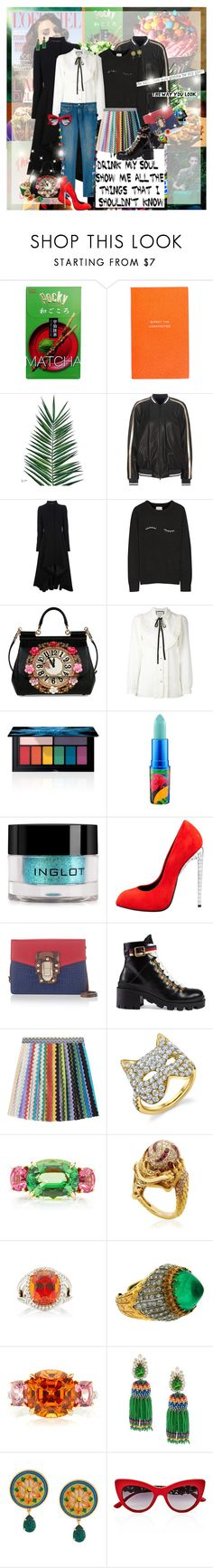 """Rainbow Accent"" by lady-redrise ❤ liked on Polyvore featuring Hermès, Smythson, Nika, xO Design, Brunello Cucinelli, Kipling, Alexander McQueen, Band of Outsiders, Dolce&Gabbana and Gucci"