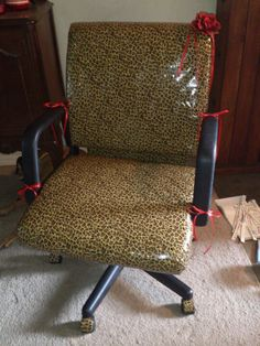 Cheetah chair duct tape office chair for my classroom 9