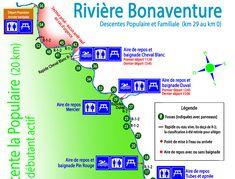 Descente de kayak, SUP, canot ou raft, facile et débutante, 2 heures sur la rivière Bonaventure. À faire en Gaspésie lors de vos vacances en famille! Camping Sauvage, Kayak, Road Trip, Map, Travel, Canada, Family Activities, Swim, Family Vacations