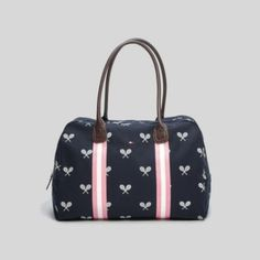 PRINTED CANVAS TRAVEL TOTE from Tommy Hilfiger - so cute, it makes you want to take tennis lessons just to justify buying this! ;)