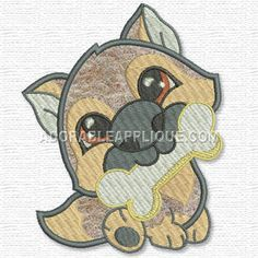 Free Embroidery Design: End of the Dog