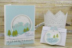 Paper Pumpkin November 2016 Wonderful Winterland Alternative. Standard size Christmas Card and Gift Card Holder.