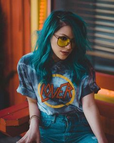 Now t… Hair color! Now that Im kinda growing my hair out, I wonder if I should switch colors? Hair Inspo, Hair Inspiration, Pelo Color Azul, Twisted Hair, Corte Y Color, Dye My Hair, Rainbow Hair, Crazy Hair, Pretty Hairstyles