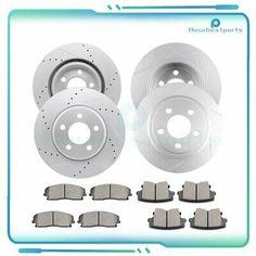 POSI QUIET Ceramic Pads for SRX 04-09 REAR Drill Slot Brake Rotors