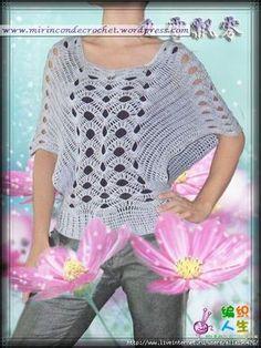 free pattern - Bellisima remera…Una de mis favoritas   Mi Rincon de Crochet