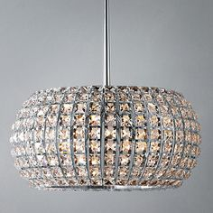 John Lewis crystal chandeliers for above island unit