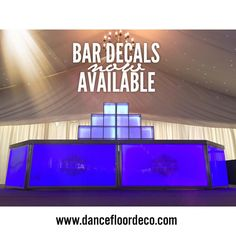 "Dancefloor Deco on Instagram: ""Get in touch now for custom made bar decals #bar #decals #wedding #event #dfd #custom #eventprofs #love #decals #decalsticker #decalsquad #stickers #vinylstickers #vinyldecal #sticker #stickerart #vinyl #handmadestickers #handcraft #design #cuttingsticker #handmade Email: info@dancefloordeco.com www.dancefloordeco.com"""