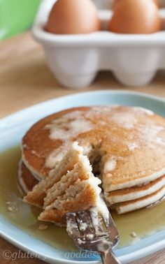 Tender and fluffy gluten-free pancakes...