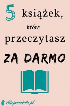 Książki, które przeczytasz za darmo - darmowe książki, darmowe czytanie, darmowe ebooki #książki #ebooki #inspiracja Cogito Ergo Sum, Fun Facts, Ads, Math Equations, Humor, Learning, Books, Magick, Literatura