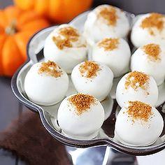 Pumpkin Cream Cheese Truffles.  Amazing.