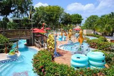 Beaches Negril toddler splash park and lazy river