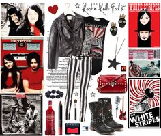 """""""Backstage Pass, White Stripes!"""" by elske88 ❤ liked on Polyvore"""
