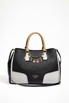 Girlfriend Satchel | GUESS.com   Torn between black and the dove color.