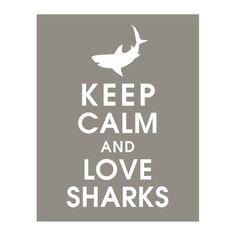 Keep Calm and Love #Sharks #scuba