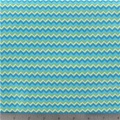 Zig Zag Green Fabric | Shop Hobby Lobby -- green, turquoise and white