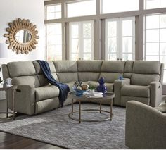 Kathy Ireland Home Mcintyre 3 Pc Reclining Sectional Sofa Furniture Pinterest Kathy
