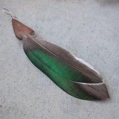 Single earring  Duck & wood  by NaturesArtMelbourne,