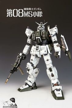 MODELER: SeoyaHooya   MODEL TITLE: 1/60 RX-79[G] Gundam Ground Type   MODIFICATION TYPE: conversion build, custom paint job, custom details,...