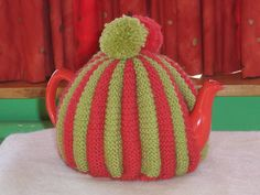 Tea cosy by MAKE recycled craft workshop, via Flickr. Need to make one of these in grey and white for Jo-Jo x