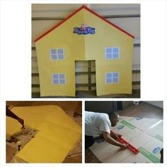 Peppa Pig House-  Party Props