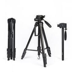 Professional Camera Tripod Monopod -Lightweight Portable for Nikon Canon SLR DSLR Video with Bag