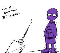 five nights at freddy's el hombre morado de niño(?