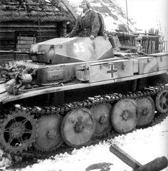 """A Panzer 2 variant """"Luchs"""" fast reconnaissance tank."""