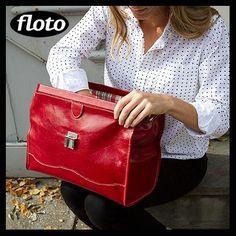 Floto Ciabatta leather doctor bag - http://www.flotoimports.com/Chiabatta-handbag.html      #itsaflotobag