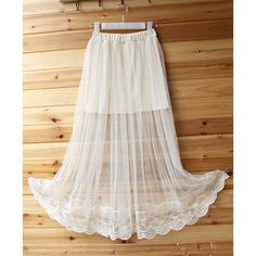 Wholesale Stylish Elastic Waist See-Through Women's Skirt Only $3.97 Drop Shipping   TrendsGal.com