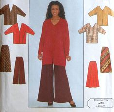 Jacket ,Top, Skirt and Pants Sewing Pattern