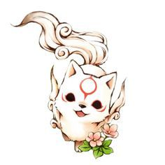 Chibi Okami Amaterasu-Icon by KurotsukiDC on DeviantArt - Chibi Okami Amaterasu-Icon by KurotsukiDC.devia … on - Anime Wolf, Cute Animal Drawings, Kawaii Drawings, Cute Drawings, Wolf Drawings, Kawaii Chibi, Anime Chibi, Anime Art, Amaterasu