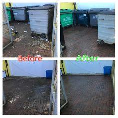 Commercial Bin Area Cleaning Hot Pressure Washing Jet-washing Restaurant Oban Argyll
