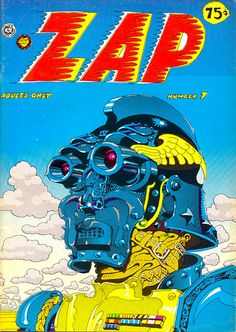 Crumb& Zap Comix Number from The cover artist is uncredited in the issue. Is it Crumb? Space Ghost, Zap Comics, Comic Book Covers, Comic Books, Art Spiegelman, Anton, 70s Sci Fi Art, Pulp, Comic Styles