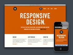 red responsive ui design