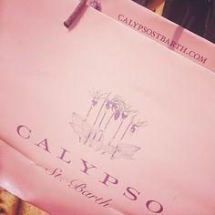 Pink Calypso St. Barth shopping bag from @Alli Rense Simpson!