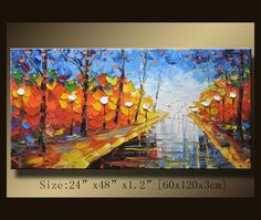 Original Abstract Painting Modern Textured Painting by xiangwuchen, $269.00