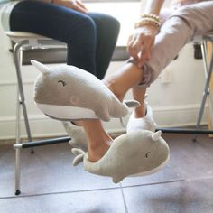 Narwhal Heated Slippers!