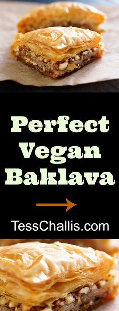 Perfect #Vegan Baklava http://tesschallis.com/recipes/2016/11/17/perfect-vegan-baklava