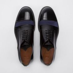 Paul Smith Men's Shoes | Black High-Shine Leather And Silk Newlyn Shoes