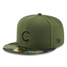 ccbd98d0f87 Men s Chicago Cubs New Era Green 2017 Memorial Day 59FIFTY Fitted Hat
