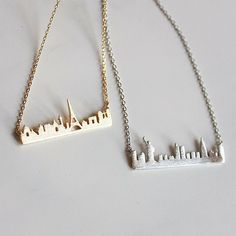 Cityscape necklaces