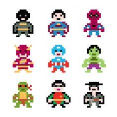 Stickers Pixel Super Héros