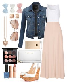 """""""Untitled #273"""" by jasmine-rlrh ❤ liked on Polyvore featuring LE3NO, American Vintage, The Row, Christian Louboutin, MICHAEL Michael Kors, MAC Cosmetics, Charlotte Tilbury, Topshop, Thomas Sabo and H&M"""