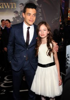 """Mackenzie Foy Photos - Actors Rami Malek (L) and Mackenzie Foy arrive at the premiere of Summit Entertainment's """"The Twilight Saga: Breaking Dawn - Part 2"""" at Nokia Theatre L.A. Live on November 12, 2012 in Los Angeles, California. - Premiere Of Summit Entertainment's """"The Twilight Saga: Breaking Dawn - Part 2"""" - Red Carpet"""