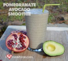 A healthy, easy to make pomegranate avocado smoothie that is full of good fats, protein, and fiber. Its kid friendly and great for adults too.