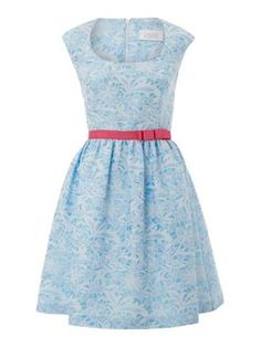 Spring Dress Special Full skirted jacquard dress. Cute for Easter!
